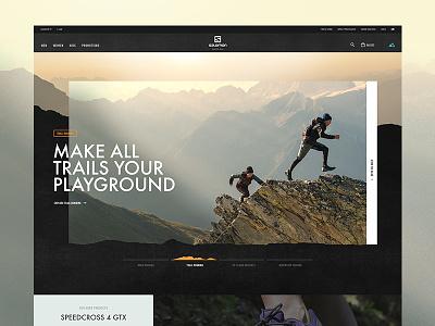 Salomon Homepage ecommerce website ux ui toyfight textured interactive digital agency salomon