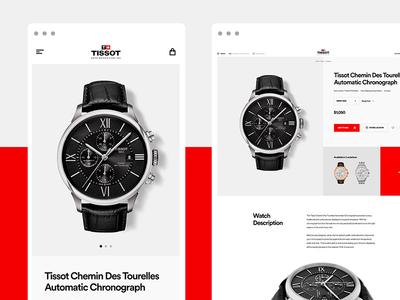 Tissot Watches E-Commerce - PDP