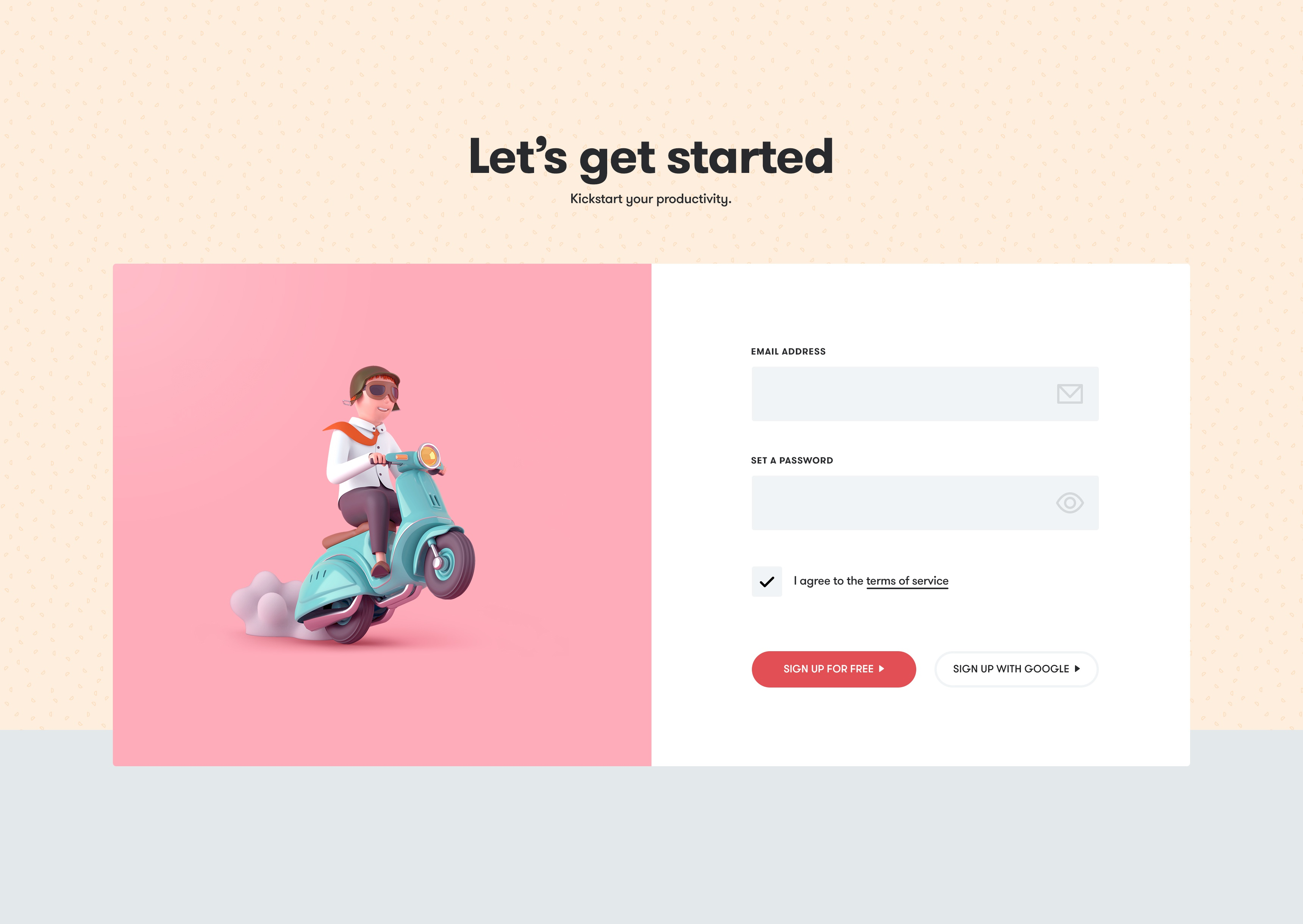 Toggl signup full
