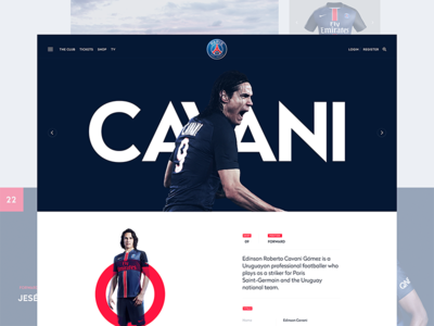 PSG Player Page agency design digital interactive toyfight ui ux website football soccer psg