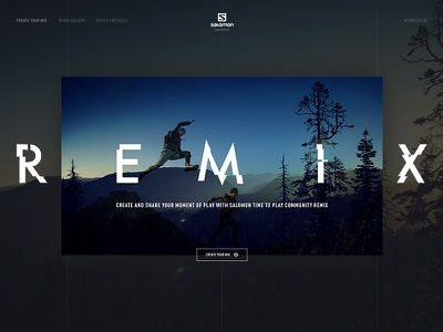 Salomon Remix outdoors sport website ux ui toyfight textured salomon interactive digital agency