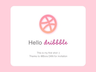My First Dribbble Shot my first shot hello dribbble