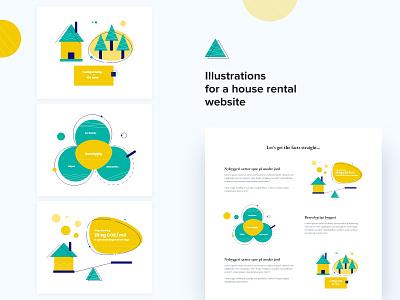 House Rental Website Illustrations housing website illustration design rental website modern design web illustration graphic design digital illustration vectorart illustration