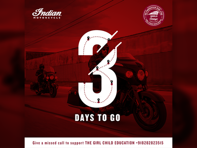 Indian Motorcycle girl education indian motorcycle count down post 3 days to go social post india tour bike shop bike ride
