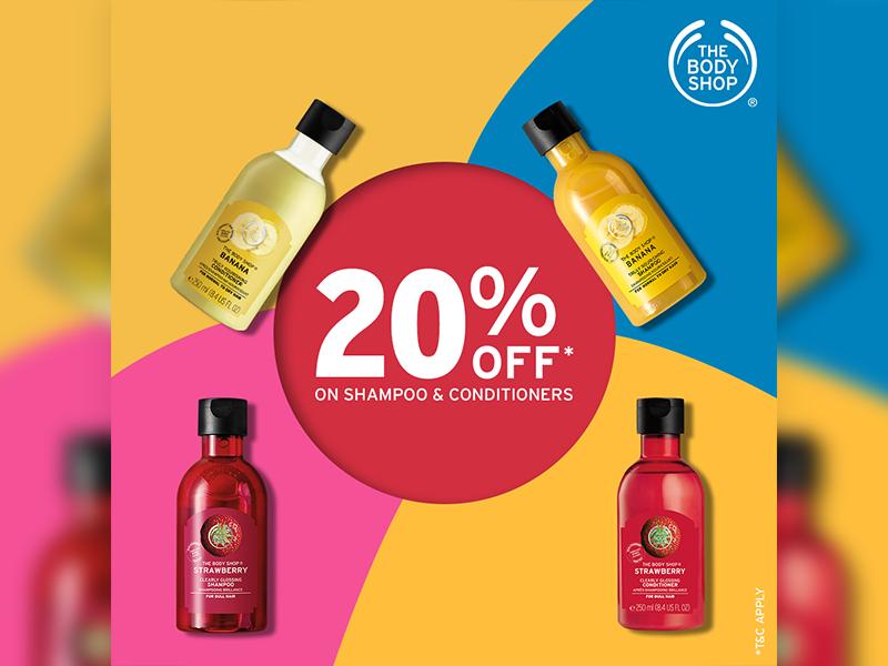 The Body Shop (Social Post) original creative creative post 20 off shampoo body care social post the body shop