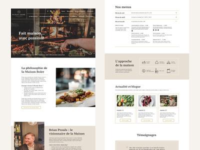 Restaurant website food restaurant webdesign ui website