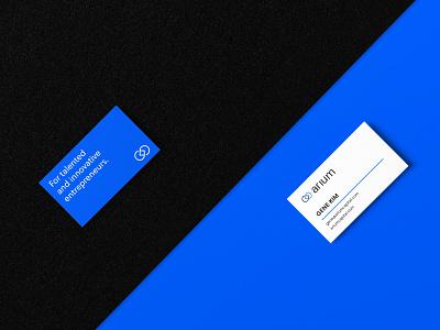 Arium   Business cards venture capital venture blue business cards logo branding