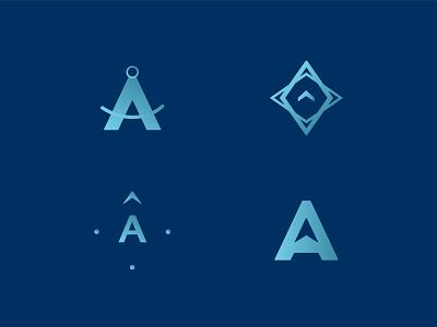 A location illustration minimal typography branding
