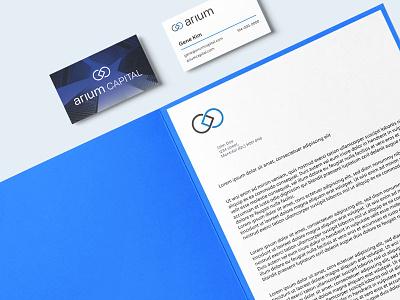 Arium Stationnary finance capital venture stationary logo branding