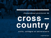 Cross-Country running poster