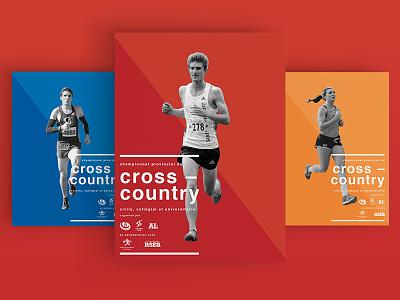 Cross-Country running poster #3 cross-country minimal type running poster logo