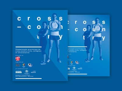 Cross-Country running poster - 2018 edition blue type poster minimal cross-country running