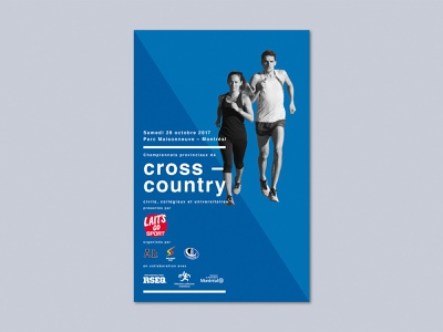 Cross-Country running poster - 2017 edition cross-country minimal running poster blue