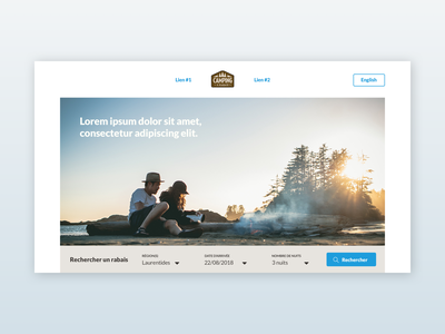 Search mode-Other DA | Camping website webdesign website ui design search bar search nature search mode landing page camping art direction branding