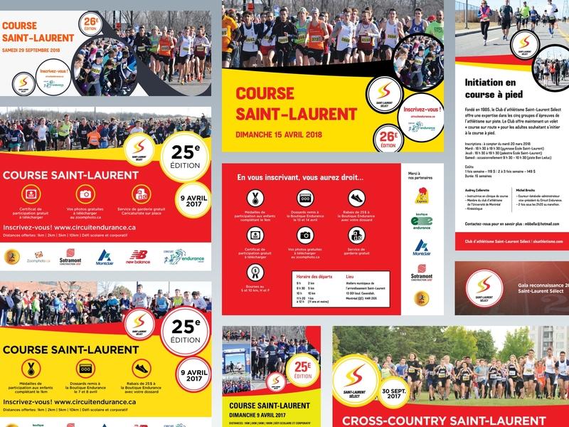 Saint Laurent Select running club print branding design running