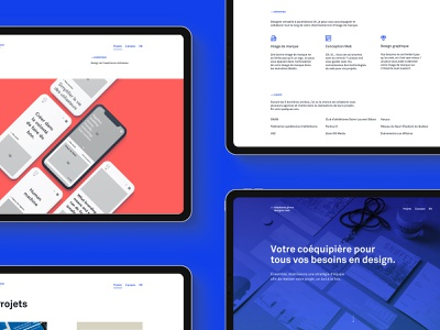 Website - Iteration 2019 minimal freelancer digital branding ux ui design clean blue webdesign branding website portfolio