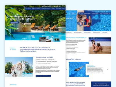 Landing page - Final version website concept website webdesign water pool landing page homepage design homepage grid business branding