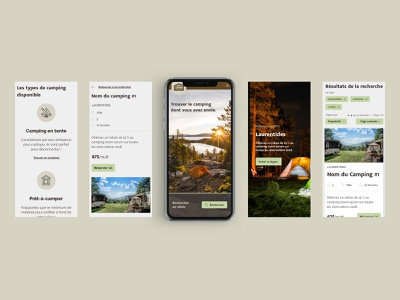 Camping website | Final UI | Mobile ui website webdesign ui design mobile version nature landing page camping branding art direction