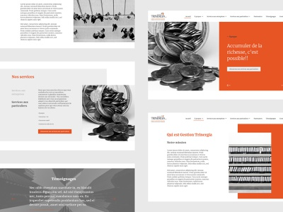 Accounting homepage minimal gray orange website concept homepage design homepage accounting business website webdesign ui branding