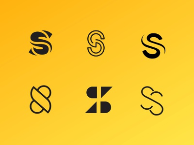 Double S Explorations logomark logo s letter s minimal typography branding
