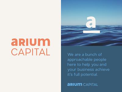 Arium   Unchosen logo 1 unused concept finance typography minimal monogram logo identity system branding