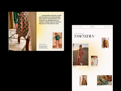 SEZANE —  ESSENTIALS // BOOK fashion ecommerce ui uiux graphic art direction fashion brand branding logo editorial editorial design editorial art editorial layout webdesign clothing typography print uidesign poster