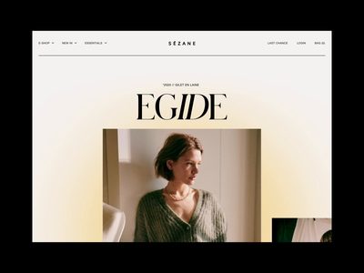 SEZANE  —  PRODUCT book fashion ecommerce ui uiux graphic motionui fashion brand branding logo editorial editorial design editorial art editorial layout clothing uianimation print uidesign poster animation