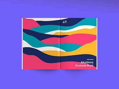 Typographic specimen - Akzidenz-Grotesk book editorial print typographic specimen poster graphic font design