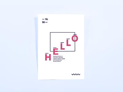 Hello Akzidenz Grotesk typography specimen print poster graphic font design editorial book