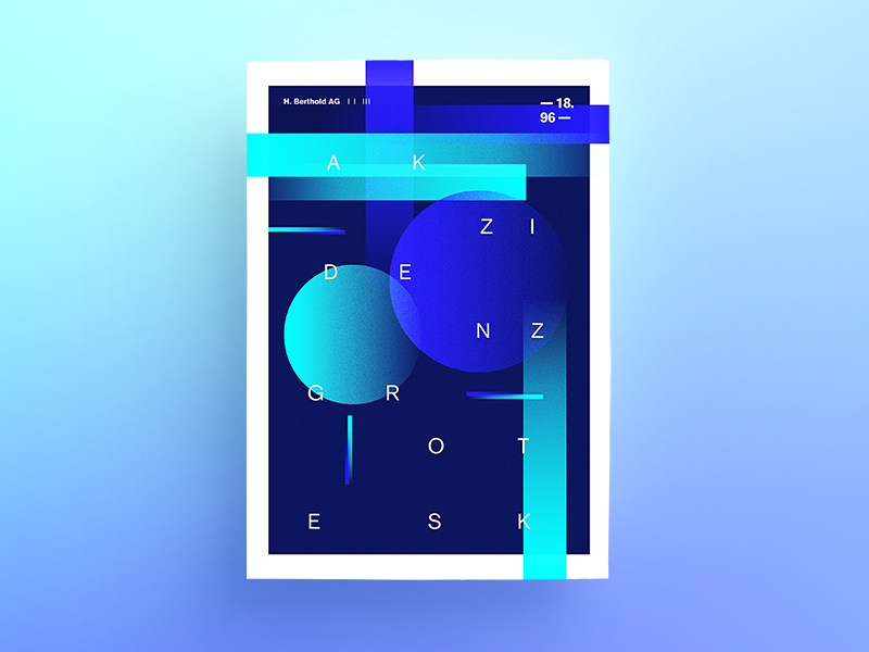 Abstract poster #1 abstract gradient akzidenzgrotesk specimen print posterdesign poster concept graphic editorial design