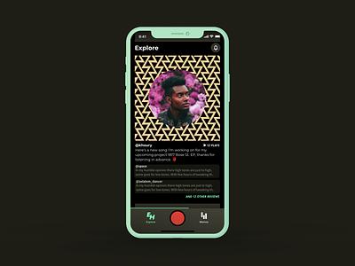 New EH look exploration prototype app design music