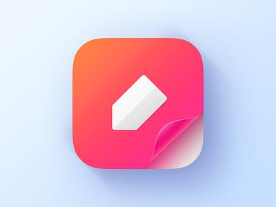 Dailyui005-Appicon note app pen ios icon