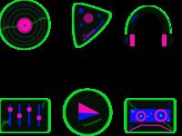 Retrofuturist Icons