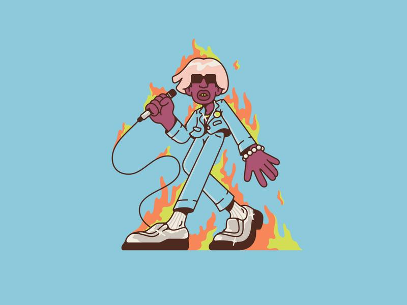 IGOR fire vector illustration earfquake tyler the creator igor