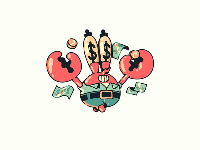 mr. krab money vector illulstrator illustration nickelodeon squarepants spongebob krabs mister