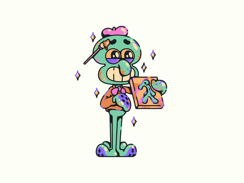 squidwardiard bold and brash vector illustrator illustration nickelodeon squidward squarepants spongebob