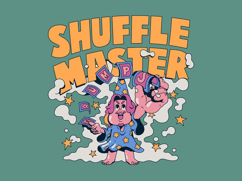 Game Grumps - Shuffle Master master shuffle cards merch vector illustrator arin hanson illustration game grumps