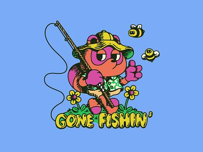 tom nook gaming nintendo flowers illustration bees fishing new horizons animal crossing nook tom