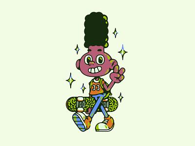 GERALD cartoon illustration skateboard nickelodeon gerald hey arnold