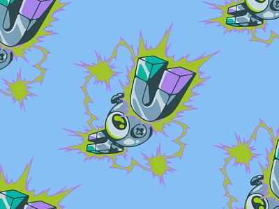 MAGNEMITE magnet electric gaming nintendo illustration pokemon magnemite