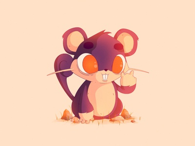 Rattata | #19 illustration pokemon rattata gaming nintendo 19 pocket monster