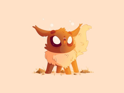 Eevee | #133 illustration pokemon gaming eevee nintendo artwork pocket monster 133