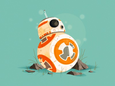 Star Wars | BB-8 bb8 artwork droid the force awakens star wars bb-8 illustration