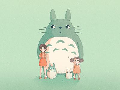 My Neighbor Totoro illustration film ghibli miyazaki my neighbor totoro