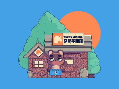 Animal Crossing | Nook's Cranny nooks cranny tom nook nintendo gaming animal crossing illustration