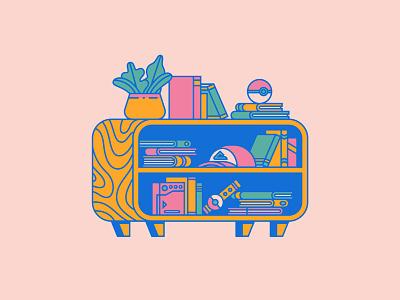 Poke Shelf pokeball books pokedex shelf gaming pokemon illustration