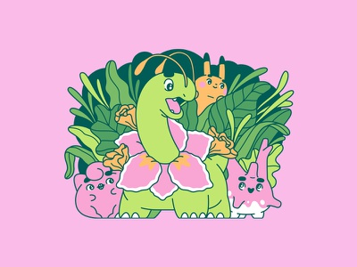 Poke Pals 3 meganium corsola jigglypuff pikachu nintendo gaming pokemon illustration