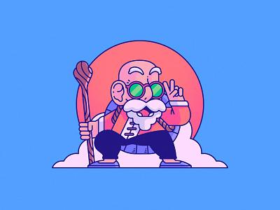 Master Roshi | Dragon Ball akira toriyama illustration manga master roshi dragonball