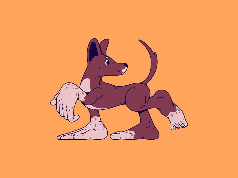 Norman feet hands chihuahua dog illustration