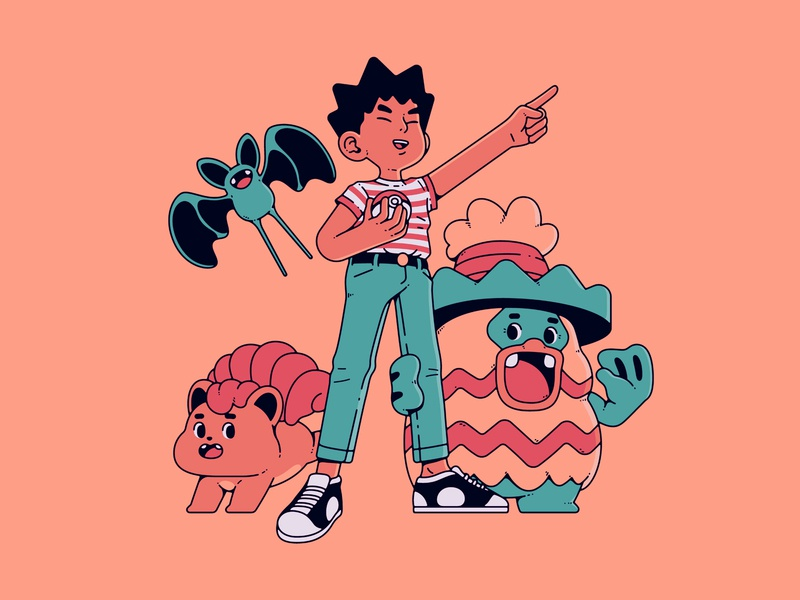 Brock | Pokemon nintendo zubat ludicolo vulpix brock illustration gaming pokemon